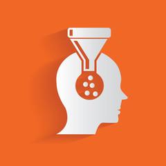 Brain filter,clean vector