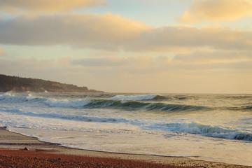 Ocean shore in the morning