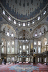 People perform the ritual prayers of islam in Eyup Sultan Mosque
