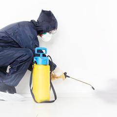 Exterminator at work