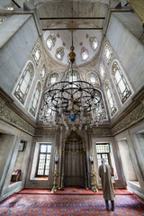 He perform the ritual prayers of islam in Eyup Sultan Mosque, Is