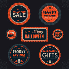 Halloween theme badges and labels