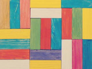 colorful wooden blocks, texture and background