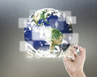 Social Network Concept. Elements of this image furnished by NASA