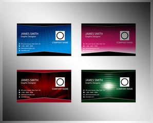 Colorful business card template set
