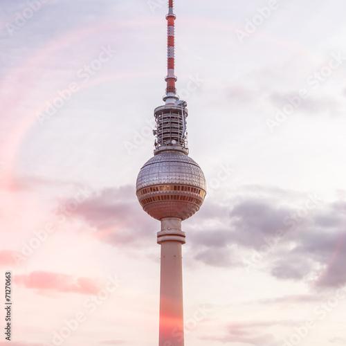 Foto Spatwand Berlijn fernsehturm mit blendenfleck