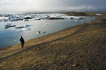 Alone walking Iceland
