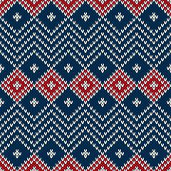 Winter Holiday Seamless Knitting Pattern
