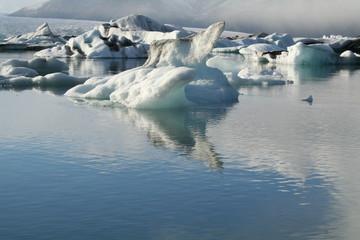 Iceberg floating on the lake Iceland