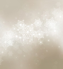 Snowflakes  background for Christmas design.