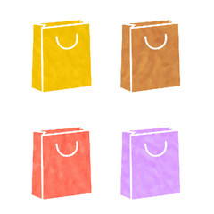 Shopping icons made from plasticine
