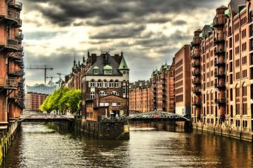 Historische Gebaeude in der Speicherstadt Hamburg
