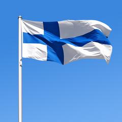 Wehende Flagge von Finnland