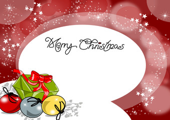 Weihnachten, Karte mit Geschenken
