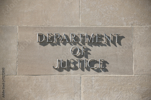 U.S. Department of Justice building in Washington D.C. - 71272800