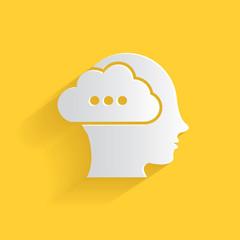 Brain storm symbol,clean vector