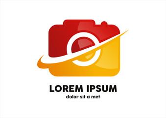 Camera icon logo design