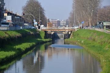 Pavia, naviglio: conca di S.Maria In Pertica