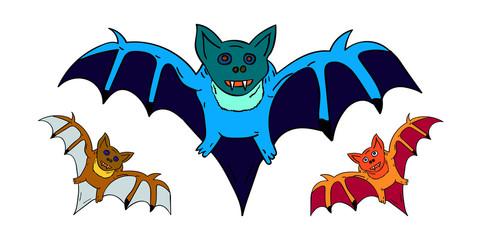 3 bats for Halloween
