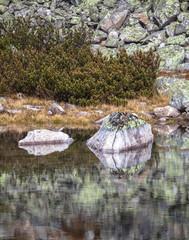 Tarn Skalnate pleso at High Tatras, Slovakia