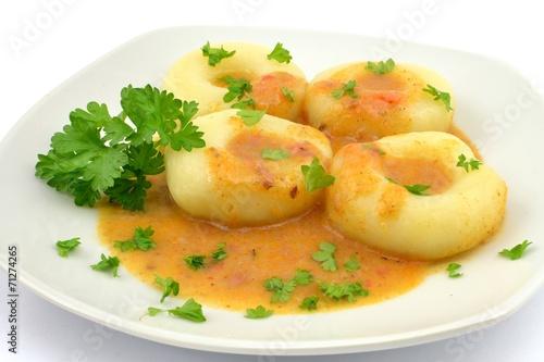dumplings with goulash sauce