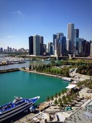 Chicago ruota panoramica molo