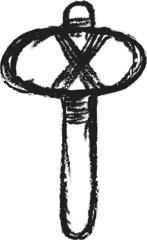 doodle stone axe