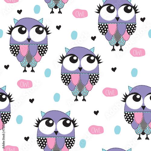 owl pattern vector illustration