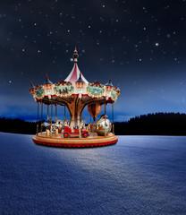 Karusell bei Nacht