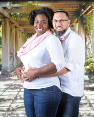 Expecting Mixed Race Couple