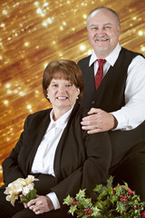 Christmas Portrait of a Mature Couple
