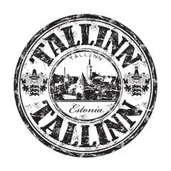 Tallinn grunge rubber stamp