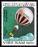 Postage stamp Vietnam 1983 Hot-air Balloon Le Geant
