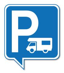 Logo parking camping-car.