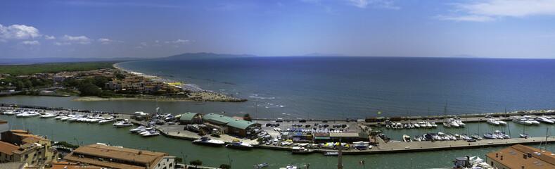 Castiglione della Pescaia, Tuscany, view of the marina. Color im