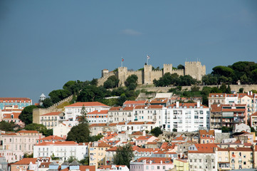 Lisbon skyline with Castle of St George