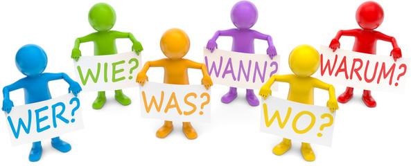 bunte Männchen W-Fragen