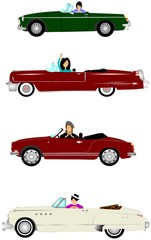 ladies in convertibles