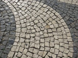 Detail of Rossio Square, Lisbon