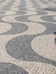 Wave pattern in Rossio Square