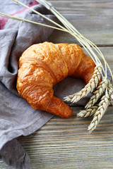 Fresh French croissant