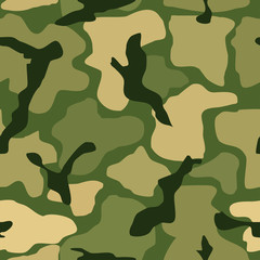 Abstract seamless camouflage pattern. Vector illustration.