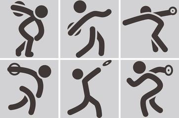 Discus throw icons