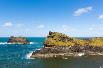 North Cornish coast Boscastle Meachard rock
