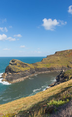 Boscastle coast leading to harbour North Cornwall England UK