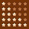 Game wooden web rating stars set