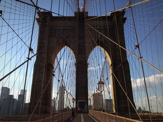 New York ponte di Brooklyn struttura