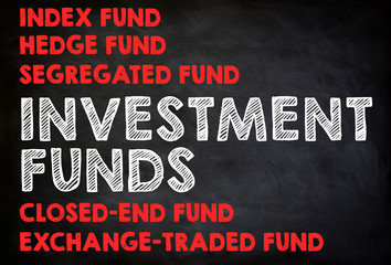 INVESTMENT FUNDS - chalkboard concept