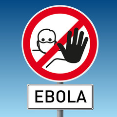Schild Ebola