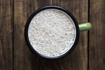 raw arborio rice